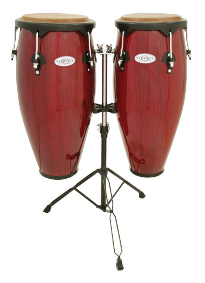 Toca Synergy Series Wood Conga Set with Stand - 2300RR
