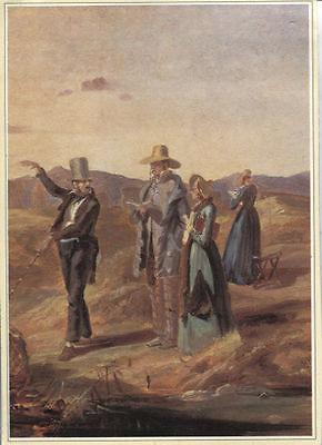 Alte Kunstpostkarte - Carl Spitzweg - Engländer in der Campagne