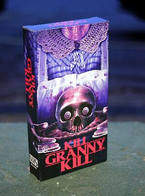 Kill Granny Kill VHS Horror (includes Theatrical POSTER!)