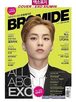 Bromide EXO VIXX BTS missA RedVelvet :Magazine 2015 May no.109,New, XIUMIN exact