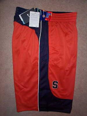 Nike Syracuse Orange Reversible Basketball Stitched Jersey Shorts Mens L Large