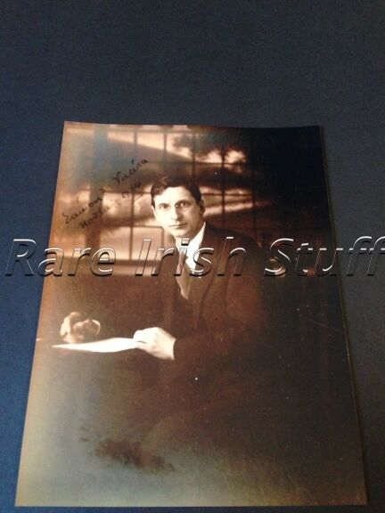 Eamon de Valera Signed 1924 Irish Autograph - Photo Print