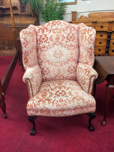 Vintage 1930's Clawfoot Wing Back Chair - Delivery Available
