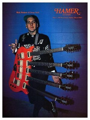 Rick Nielsen *LARGE POSTER* Hamer Guitars CHEAP TRICK Promo music store Ad