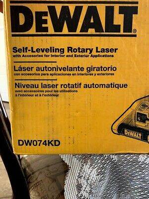Dewalt 150 Ft. Red Self-leveling Rotary Laser Level With Detector Clamp Wall