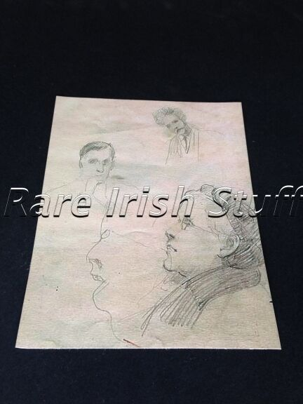 Countess Markievicz Drawing Of Eamon De Valera - Irish Photo Picture