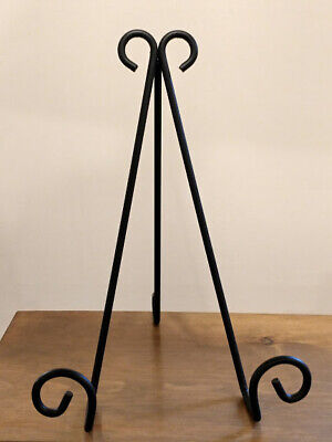 Amish forged Strong black wrought iron Large Picture Easel stand - hand -