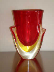 A Murano Vase by ANGELINO TOSI bought in Italy for $ 2500, mint.