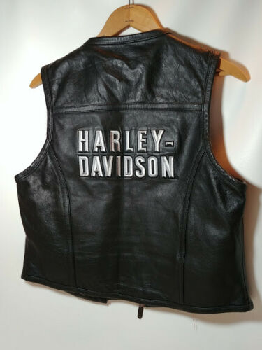 Harley Davidson Motorcycle Leather Vest sz M