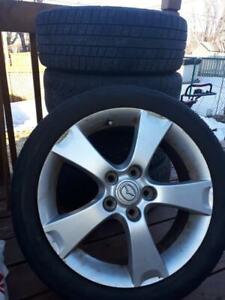 5 Rims Mazda 3,17 po pouces 205/50 R17