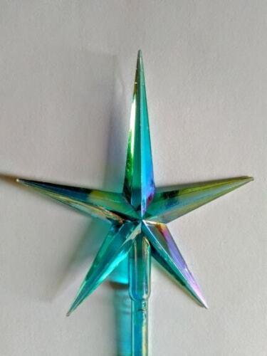 Vintage Ceramic Christmas Tree lights, bulbs  Lg Modern Aurora Aqua Star *NEW*