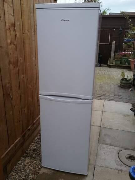 Candy fridge/freezer only used for one week then stored away until house move. As new condition £95