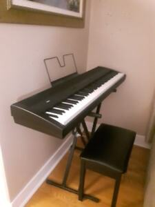 Korg SP-300 Digital Piano and Piano Bench