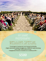 **$500 Wedding Photography Special**