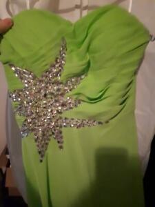 Green prom dress wore as bridesmaid dress