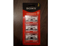 Sony Microcassette Tapes Recorders New x3
