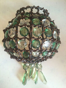 Beautiful green wall candle holder!