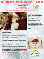 Breakfast with Santa - NonProfit Fundraiser for kids with Cancer