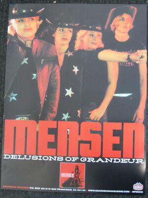 Mensen Promo Poster Gearhead Records Garage Punk Girls Rock Runaways Girl School ()