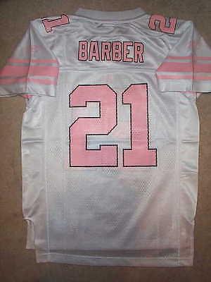 Pink Ny Giants (PINK New York NY Giants TIKI BARBER nfl REEBOK Jersey YOUTH KIDS (GIRLS)