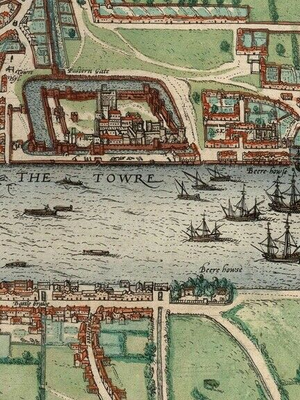 1561 London Historic Old City Map  16x24