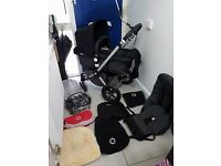 BUGABOO CAMELEON 2 PRAM & MAXI COSI CAR SEAT, EASY FIX BASE & MANY EXTRAS RRP £1000+