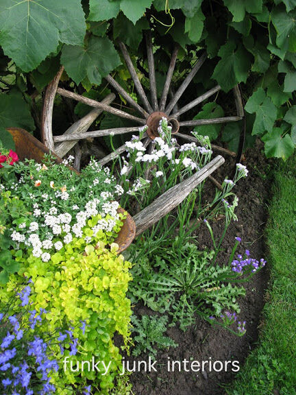 10 garden junk art ideas to jazz up your yard! By Funky Junk Interiors for ebay.com