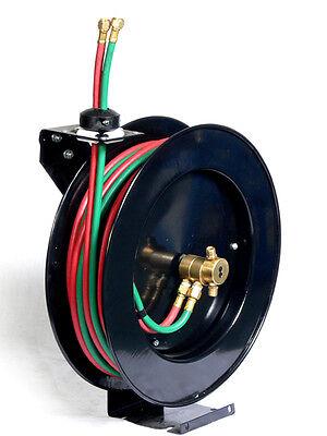 Oxygen Acetylenr Wall Torch Welding Hose Reel 50ft 14 Auto Rewind Retractable