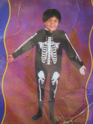 Jumpsuit Skelett Knochen Kostüm für Kinder Größe S - Knochen Kind Kostüme