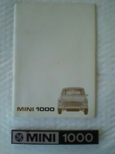 1973 Mini Owners handbook & Rear emblem