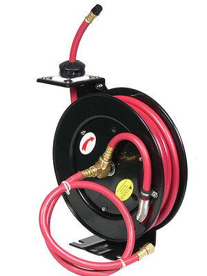 25ft X 38 Retractable Rubber Air Hose Reel 250 Psi
