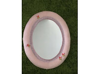 Pink floral mirror child safe IKEA