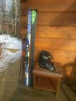 Solomon L180 Mens skis with Lange 29.5 boots and Poles