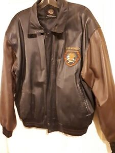 men north american hunting club leather hunting jacket