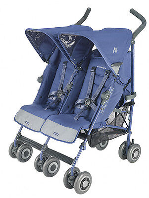 Maclaren Twin Techno Crown Blue 2011 Stroller Brand New in Box on Rummage