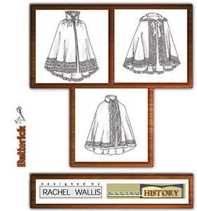 Butterick-B4419-SEWING-PATTERN-XS-M-Civil-War-Victorian-Costume-Cloak-Cape-OOP