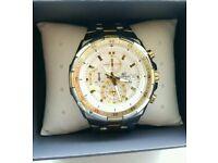 Gents Casio Edifice Chronograph Gold Silver Watch