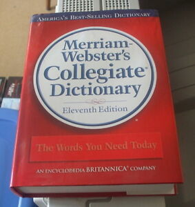 Merriam-Webster Collegiate Dictionary english only