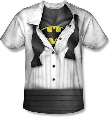 I'M BATMAN TUXEDO COSTUME BRUCE WAYNE SUBLIMATION POLYESTER T TEE SHIRT S-3XL