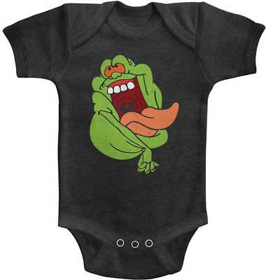 The Real Ghost Busters Crazy Slimer Baby Romper Onezies 6 - 24 Month Kids - Baby Slimer