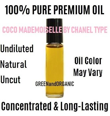 Coco Mademoiselle by Chanel (W) type 10 ml Roll On Perfume Body Oil Uncut (Coco Chanel Type)