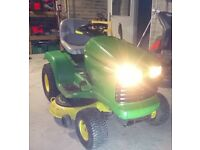 Ride on John Deere tractor mower