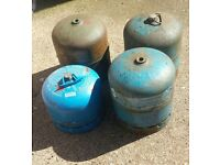 Camping gaz cylinders x4