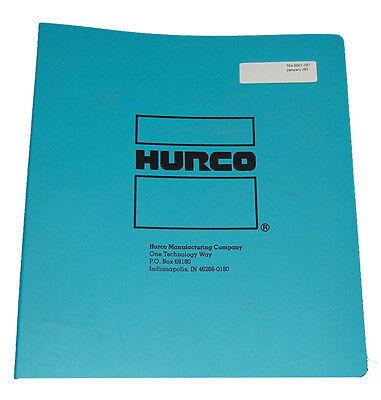 Hurco Cnc Mb-ii Three Axis Mill Operator Maintenance Illustration Tables Manual