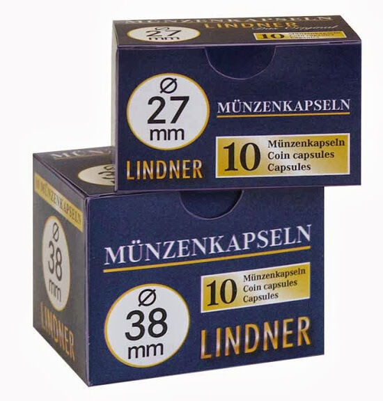 20 Lindner Coin capsules (2 Packs) - Choice - Size 14 mm to 34 mm - NEW
