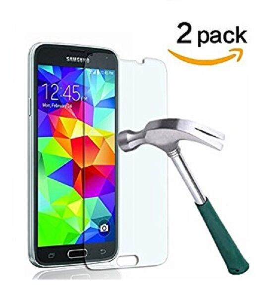 Premium Gorilla Tempered Glass Film Screen Protector for Samsung Galaxy S5 Cell Phone Accessories