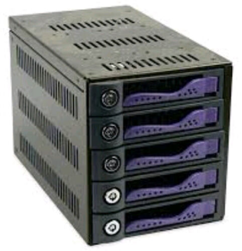 """5 x 3.5"""" HDD in 3 x 5.25"""" Bays, Hot Swap SATA 6Gbps HDD Mobile Rack/ Cage"""