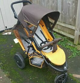 Hauck free rider duo/tantum 3 wheel stroller