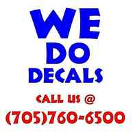 Ever Wanted Your Own Custom Auto Decal? Call us for a quote!