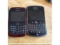 2x spares or repairs blackberry phones